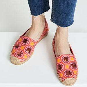 •TORY BURCH• Cecily Embellished Espadrilles 10.5.